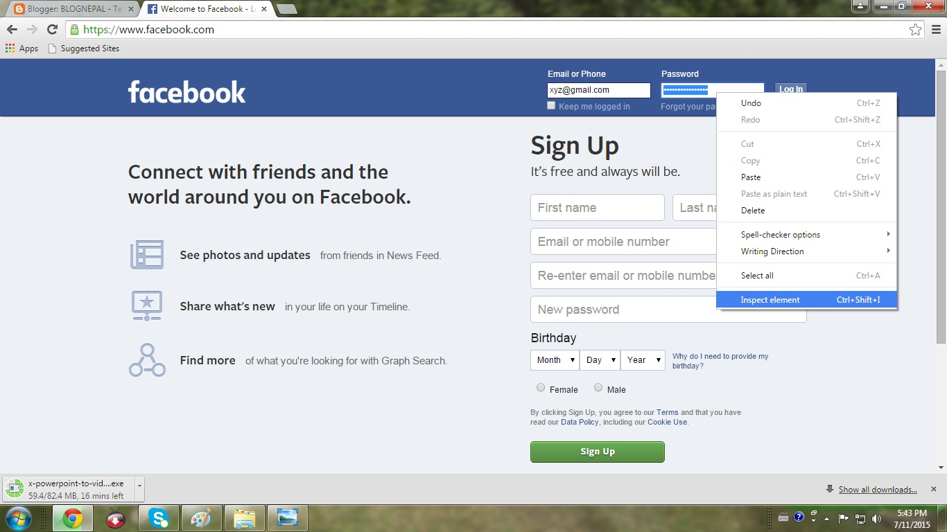 how to delete facebook password from browser