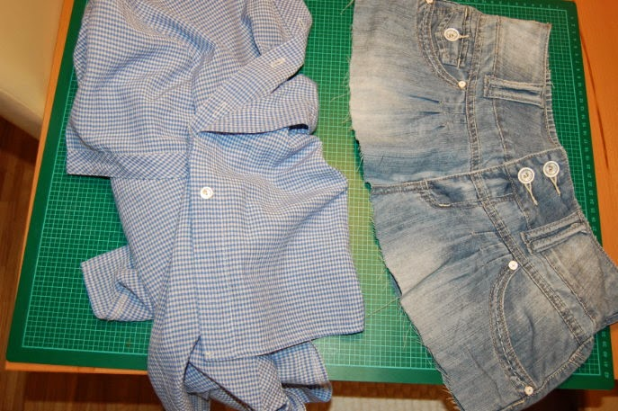 Handmade by-Sassi: Rock-Bluse Upcycling