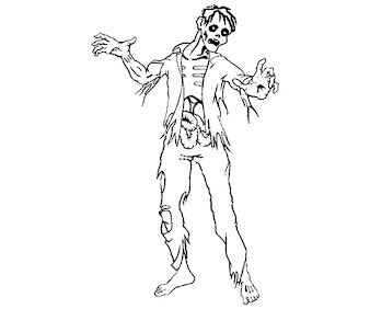 #10 Zombie Coloring Page