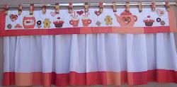 cortina bandô vermelha
