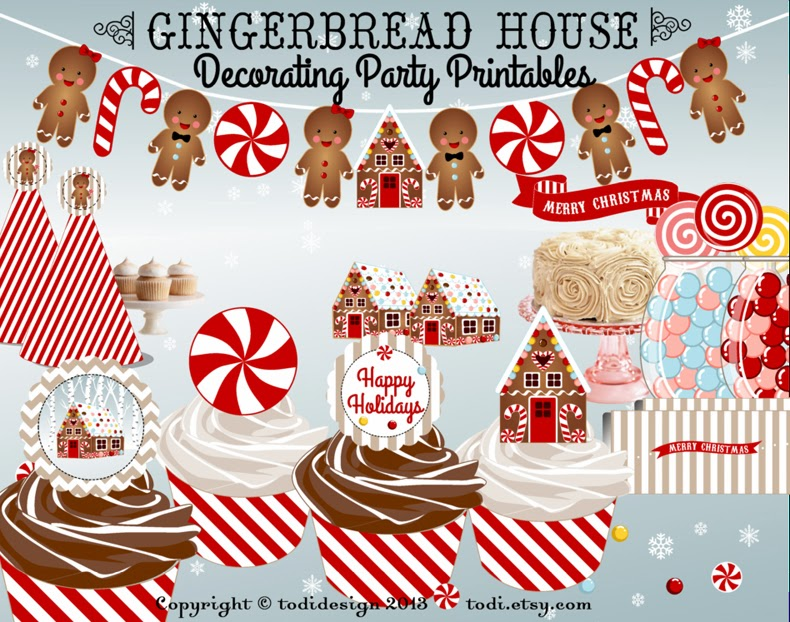 Gingerbread House Decorating Party Printables