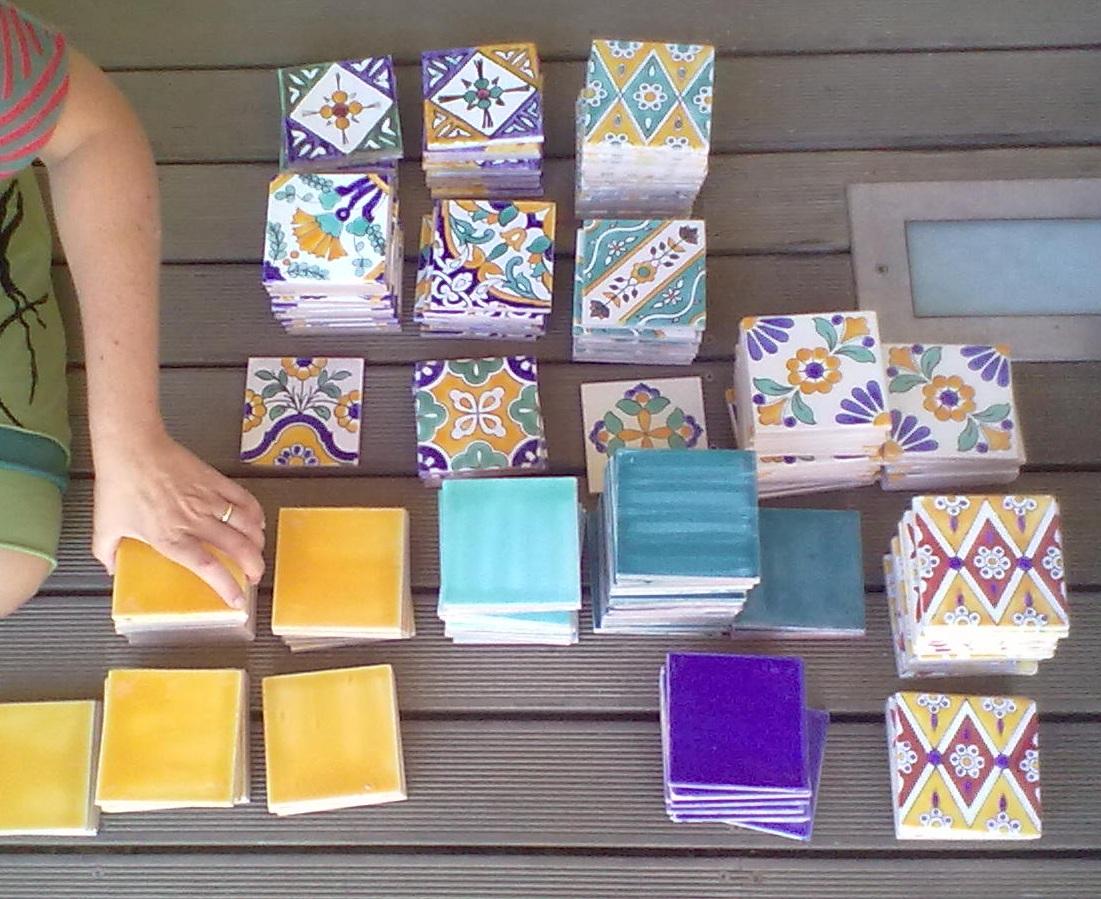 Piastrelle dipinte a mano per cucina stunning patchwork per