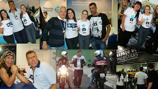 Momentos especiais no Brasil Motorcycle Show.