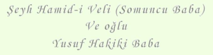 Yusuf Hakiki Baba