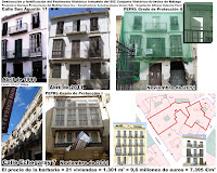 Fachadismo en calle San Agustín 11 y calle Echegaray 7, BIC Centro Histórico de Málaga