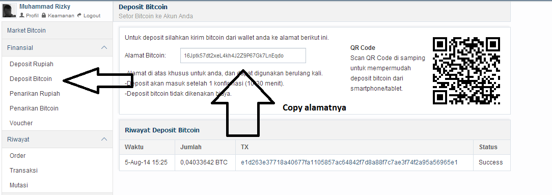 Cara Withdraw Balance BTC ke Bank Indonesia