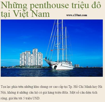 Diamond Island - The million dollar penthouse in Vietnam