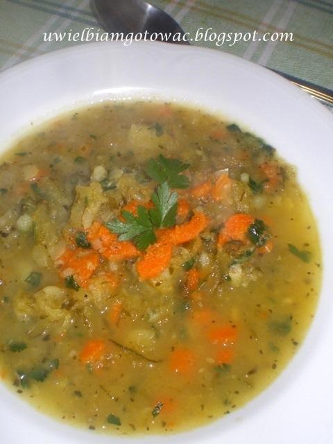 Kwaśna zupa z kiszonych ogórków i marchwi