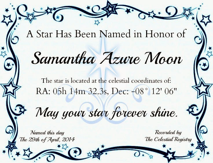 I Couldnu0027t Keep The Fun To Myself, So I Designed A Blank Template You Can  Fill In Using PicMonkey, Or Print Out And Fill It In Yourself. Star  Certificate ...  Name A Star Certificate Template