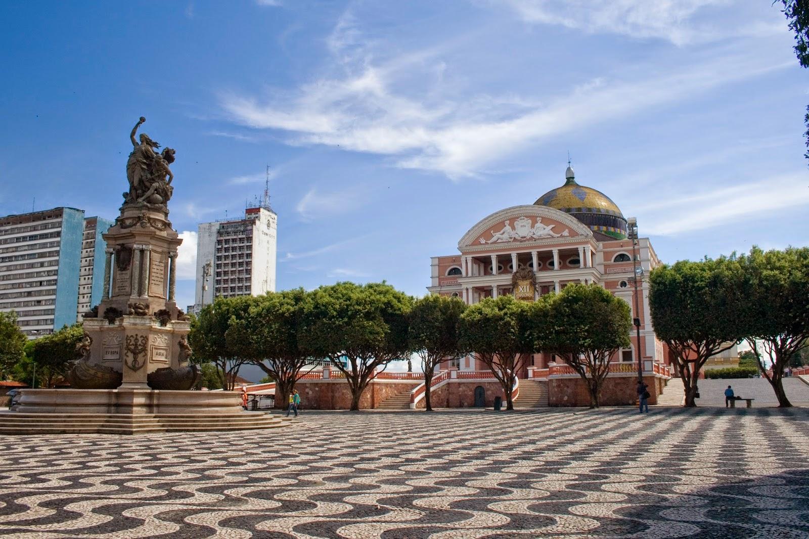 Manaus city centre, Brazil