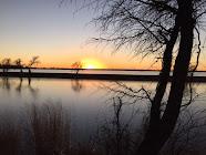 Lake Overholser sunset