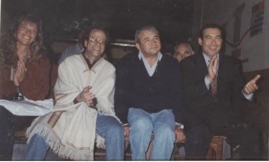 MARCELA, PADRE PAGANO, PADRE JOSÉ JAIME EN SU PRIMERA VISITA A SALTA Y CARLOS FIGUEROA