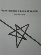 Meus livro 'Alguns haicais e mínimos poemas'