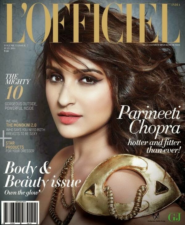 Parineeti Chopra L'officiel Magazine 2014 Cover Page