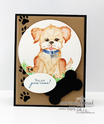 Diana Nguyen, Our Daily Bread Designs, You are pawesome, dog, card