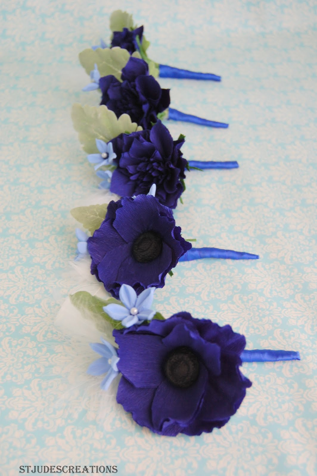 Midnight royal blue wedding bouquet paper flowers paper flowers after lot of testing blue is definitely not easy to design around midnight blue wedding paper flowers bouquet izmirmasajfo