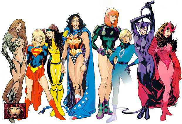 Comic book superheroines