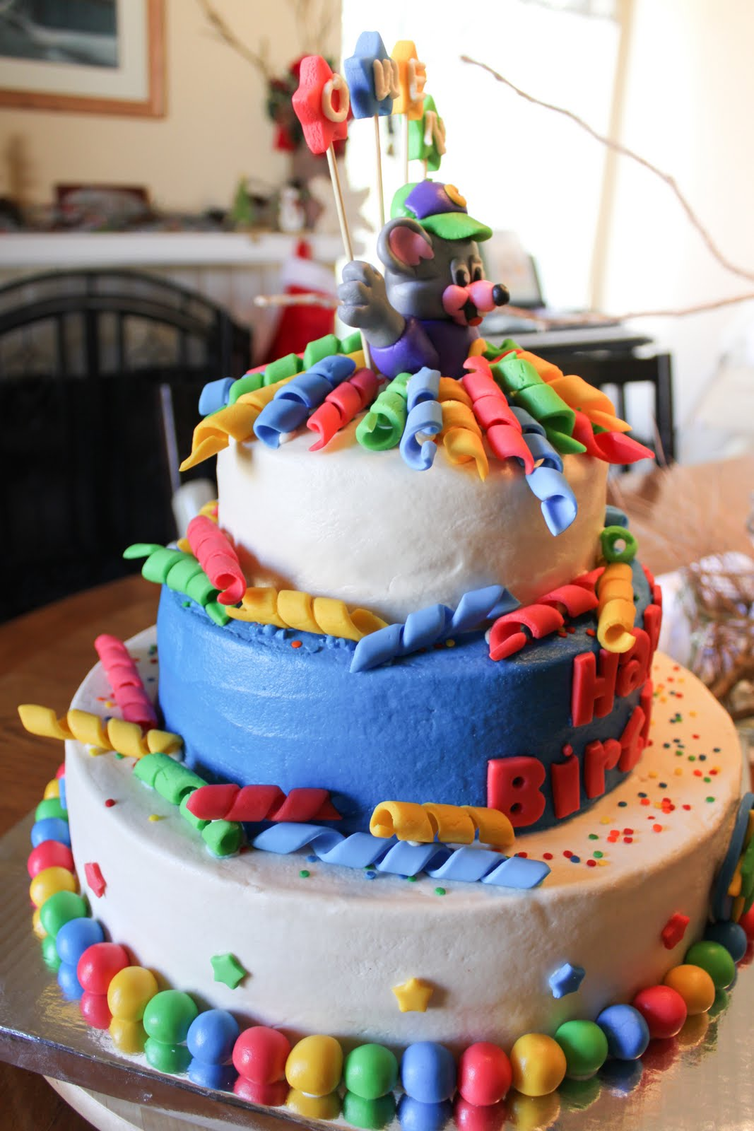 Cakes and Cooking Boys Chuck E Cheese Birthday Cake