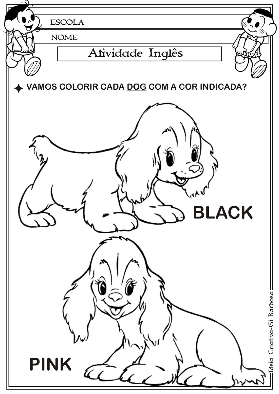 Muitas vezes Atividade Inglês Cores   Ideia Criativa - Gi Barbosa Educação Infantil RP01