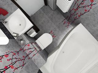 Azulejo decorativo de banheiro