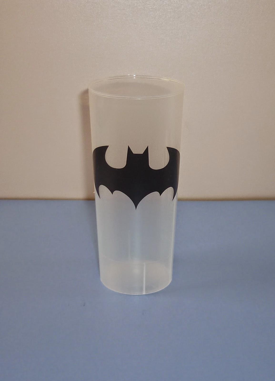 Minimandy. Vasos. Batman. Candy Bar.