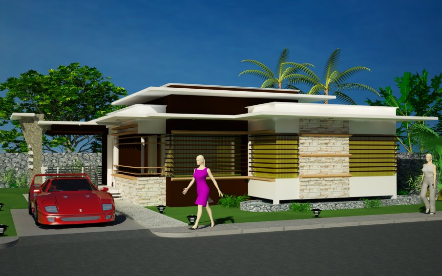 New home designs latest modern bungalows exterior designs for Modern bungalow plans