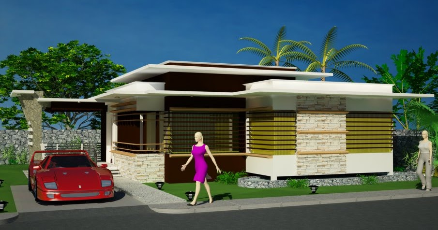 New home designs latest modern bungalows exterior designs for Exterior design of bungalows