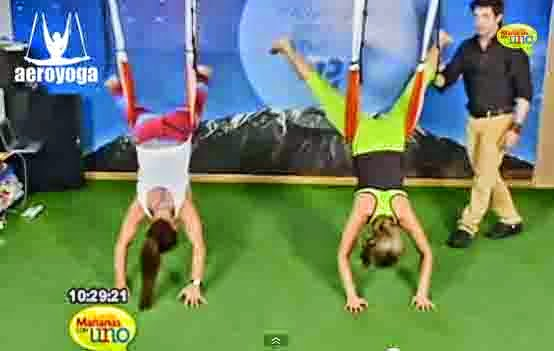 YOGA AEREO TELEVISION, TENDENCIAS, BELLEZA EJERCICIO WELLNESS