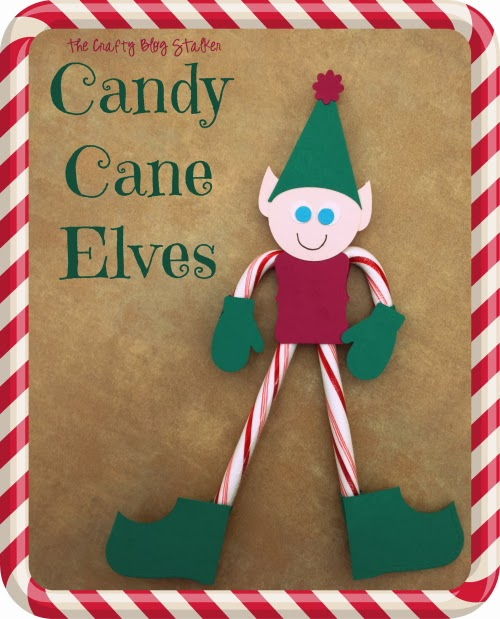 Candy Cane, Elf, Elves, Neighbor Gift, Teacher Gift, Paper Crafting, DIY, Christmas