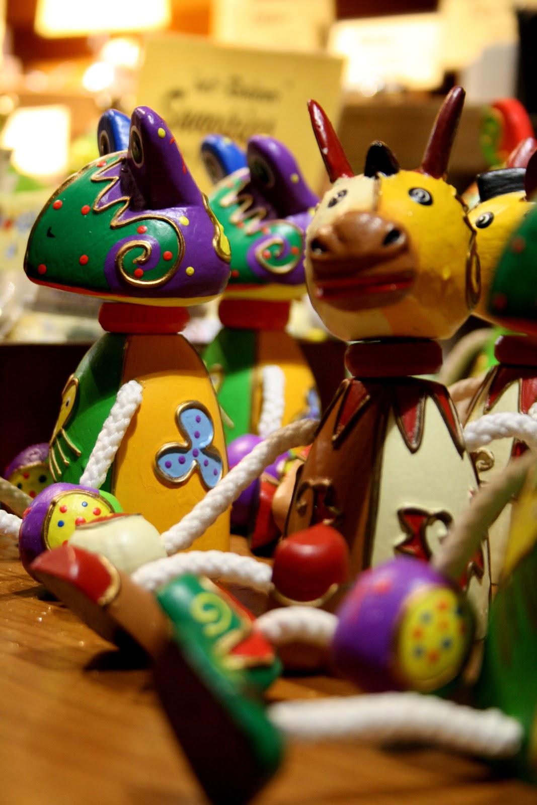 Marché de Noël de Berlin: jouets en bois