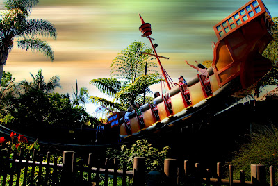 photo edit of pirate ship at legoland