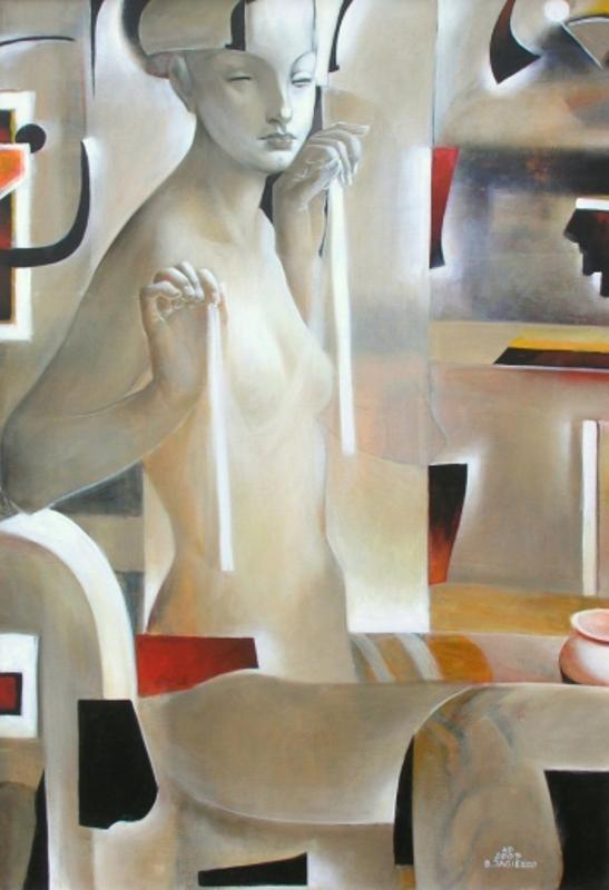 Bogusław Jagiełło 1960 | Polish symbolist painter | Sphinx in Poznan