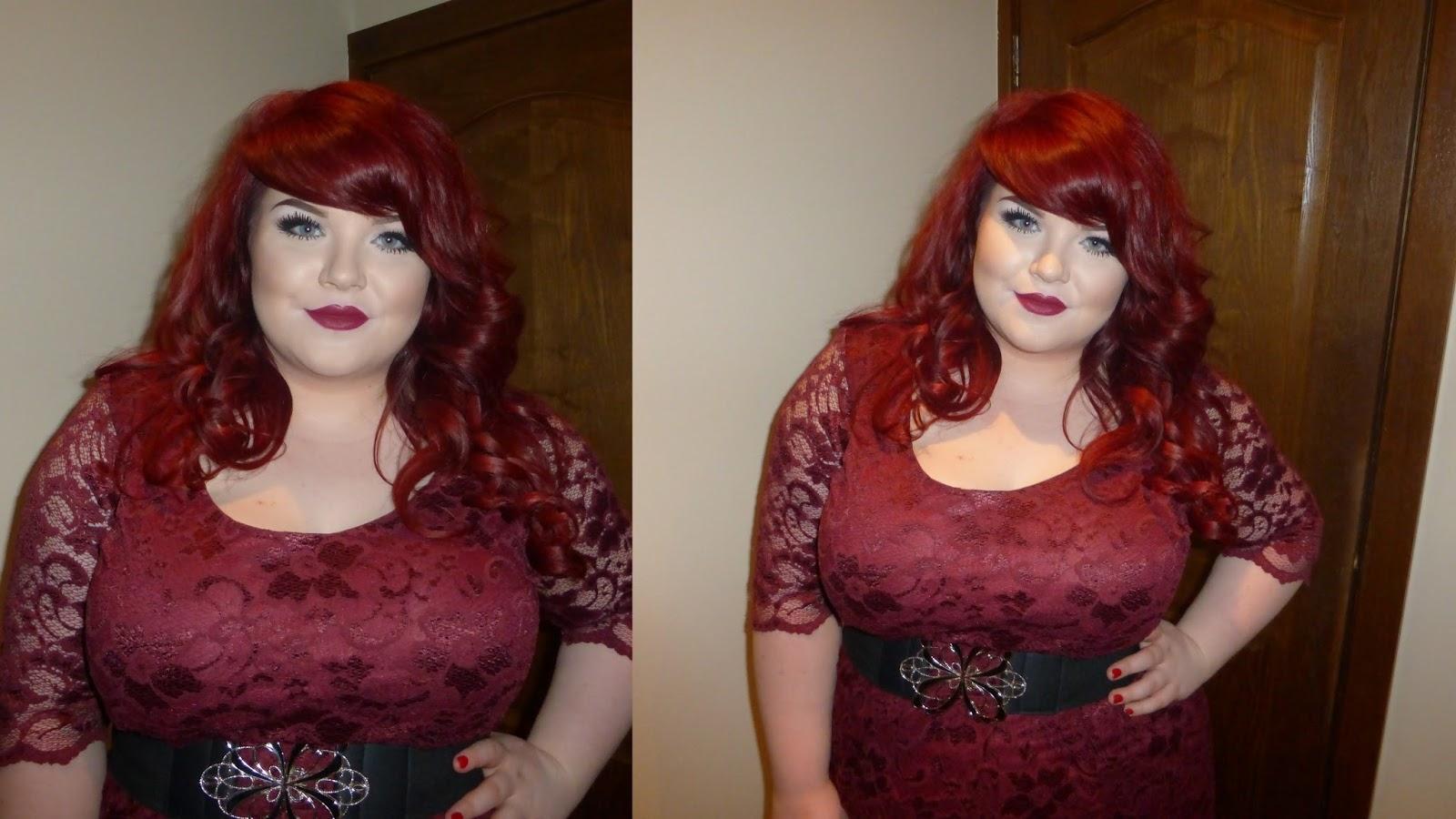 boohoo plus size Ashley Lace Skater Dress