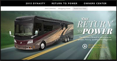 Monaco Coach launches revamped website, with video of The 2015 Monaco Dynasty