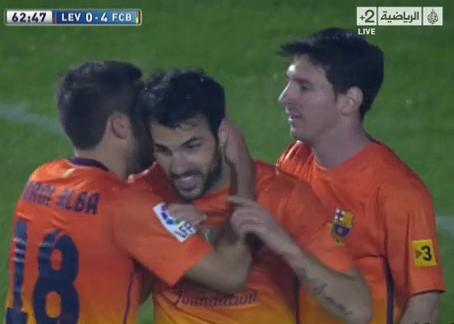 مشاهدة اهداف برشلونة وليفانتى 4/0 يوتيوب بالامس الاحد 25/11/2012