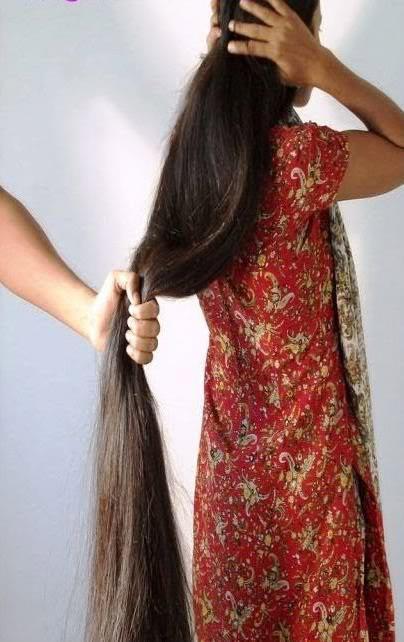 ... long hair head shave stories: Vineetha's long hair cut short - story