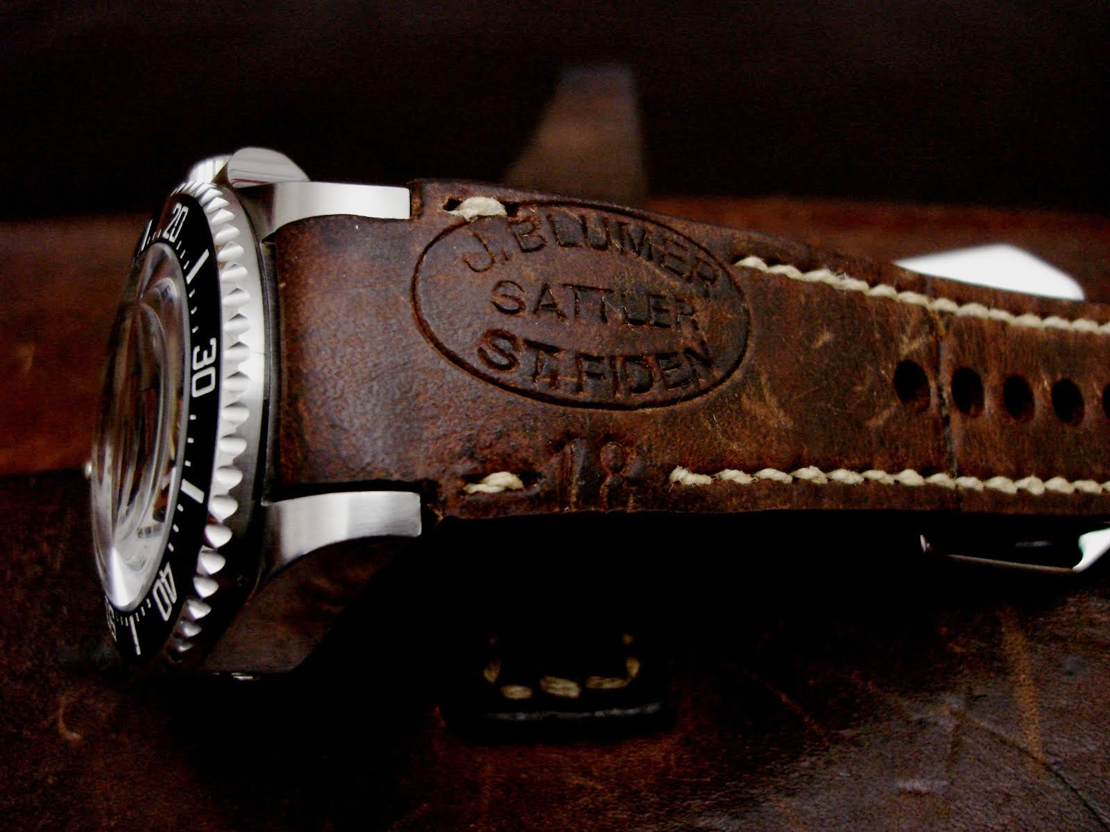 Rolex SDDS on fully integrated 1918 Swiss Ammo strap