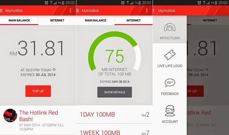 Hotlink RED Aplikasi Maxis bagi Pengguna Android