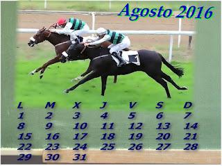 Calendario AGOSTO 2016.