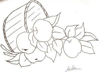 desenho de cesta de macas