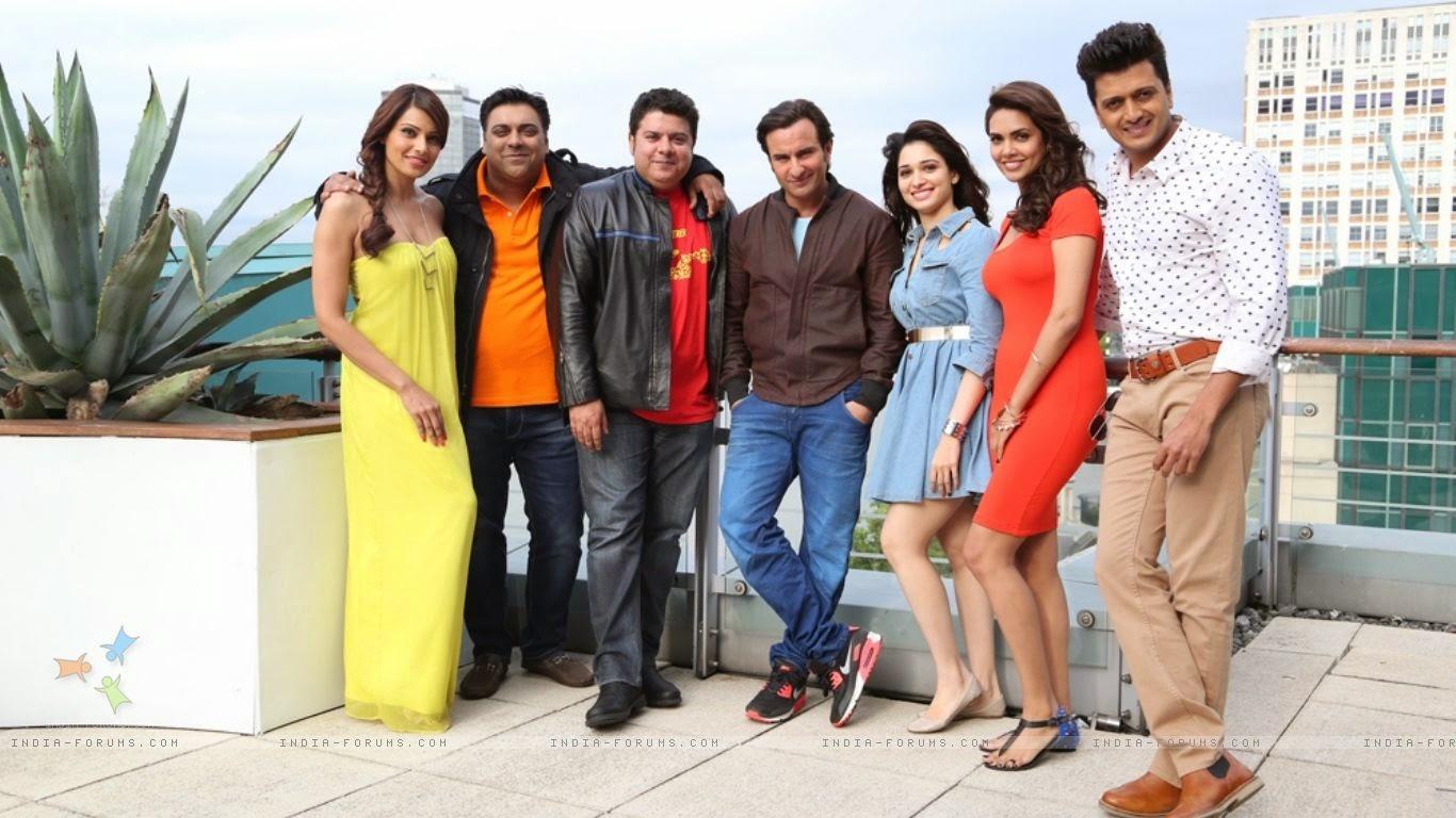 Humshakals Team Behind the scenes - Sajid Khan, Saif Ali Khan, Tamannaah Bhatia, Riteish Deshmukh, Ram Kapoor, Bipasha Basu, Esha Gupta