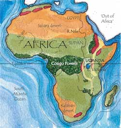 The Ritchies In Uganda On Safari Through Ugandas Great Rift Valley - Africa map great rift valley