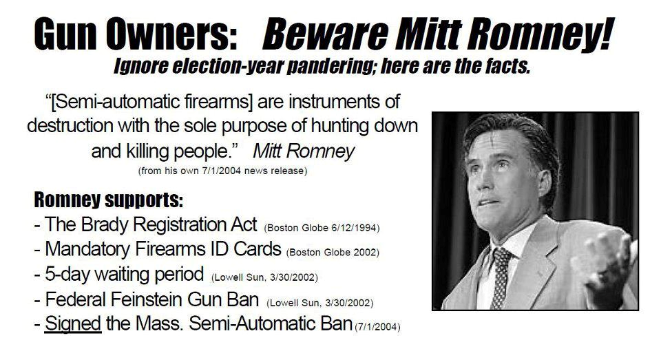 Romney on Gun Control