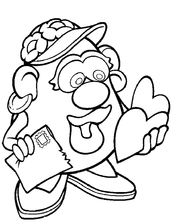 mr potato head coloring book pages coloring pages