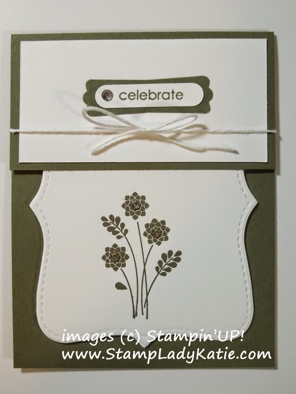 Card made with Stampin'UP!'s Top Note Die and Embellished Events Stamp Set
