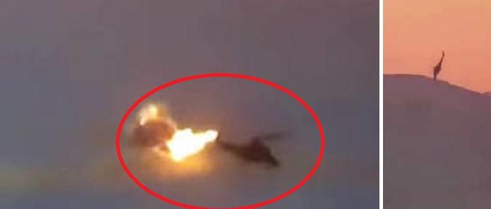 Συγκλονιστικό βίντεο: Η στιγμή που το ISIS κατέρριψε ρωσικό ελικόπτερο πάνω από τη Συρία