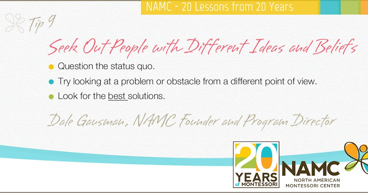 Namcs 20 Lessons From 20 Years Seek Out People With Different