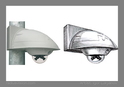 Mobotix D12 dual lens dome camera