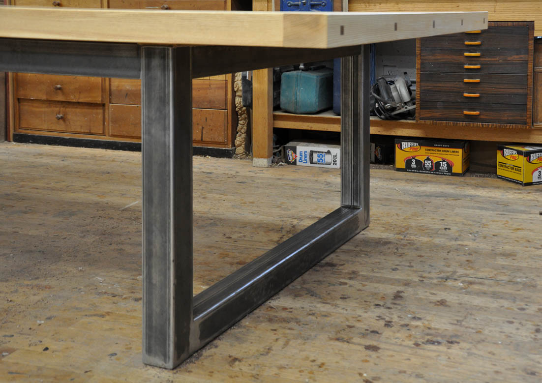 Metal table legs on pinterest table legs hairpin legs and steel table - Steel kitchen tables ...