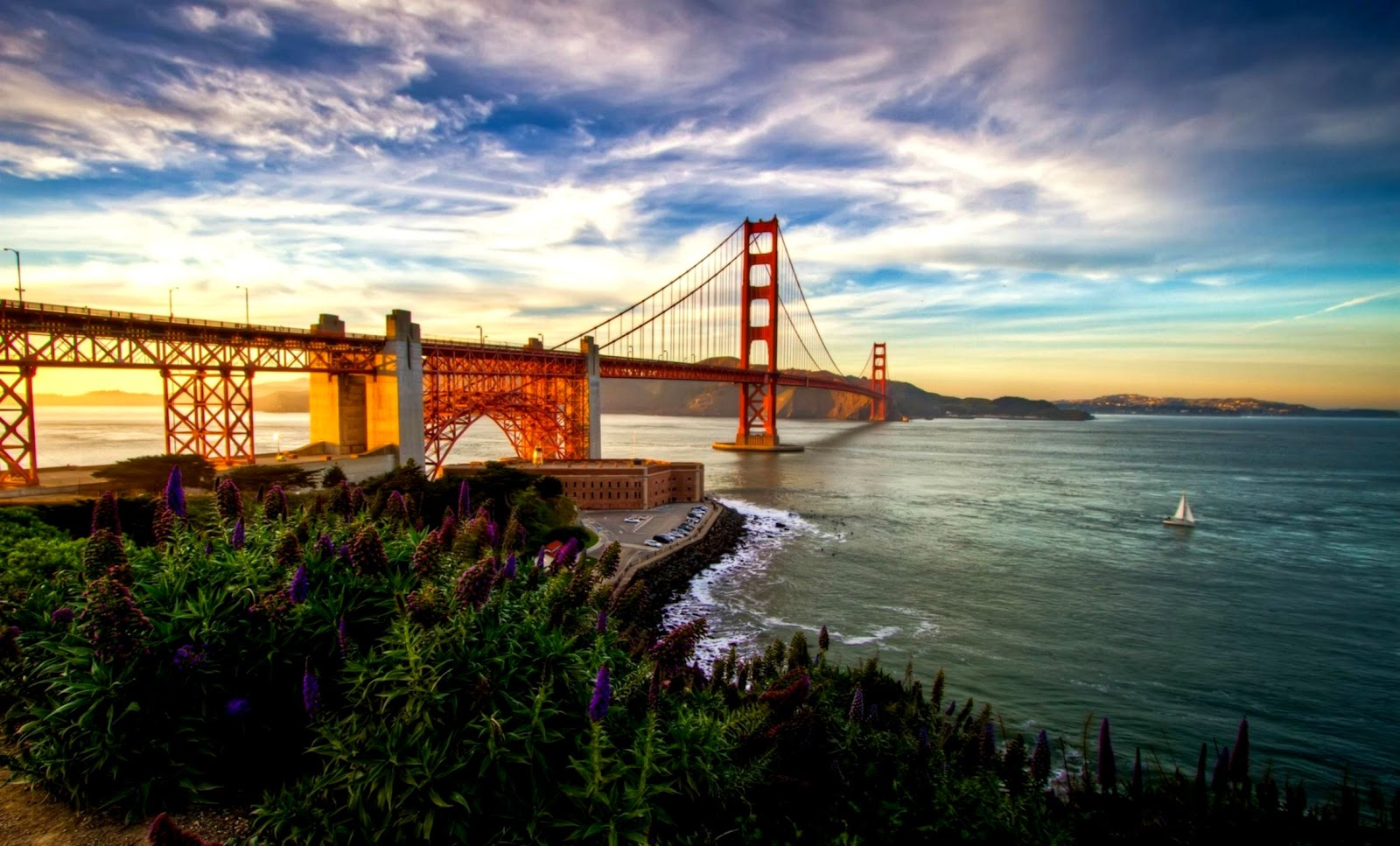 San Francisco Golden Gate Bridge Sunset